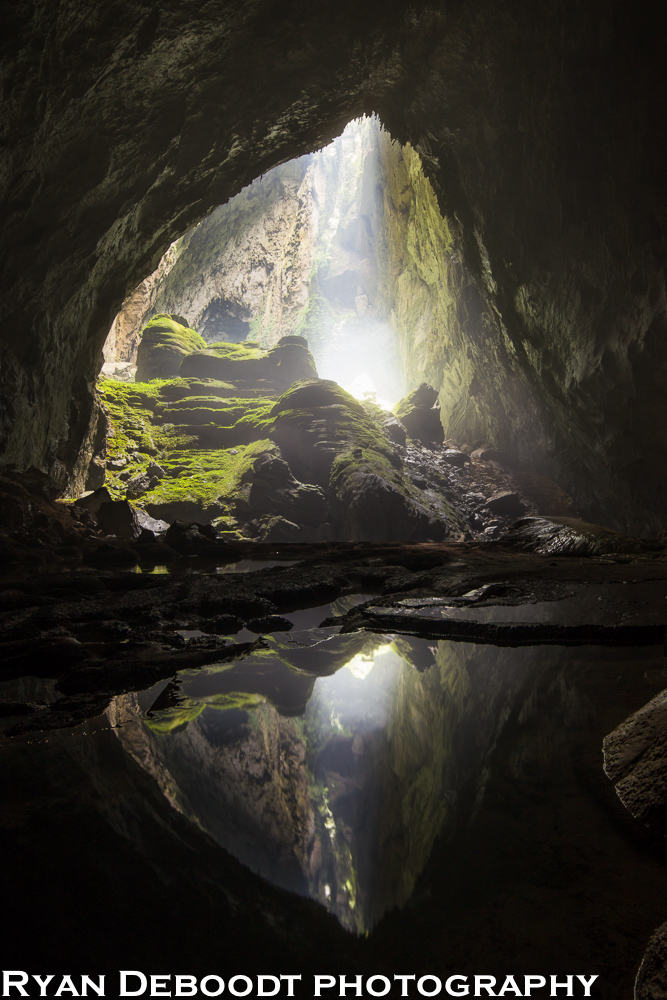 A sunbeam trying to come through at Watch Out For Dinosaurs, Hang Son Doong, Phong Nha Ke Bang, Vietnam.