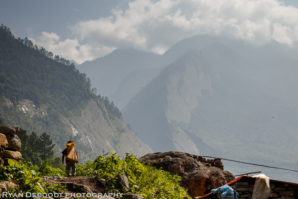 Little by on the Manaslu Trek